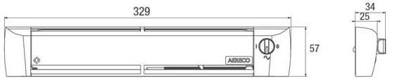 Technische Zeichnung Aereco ZUROH 110 MD