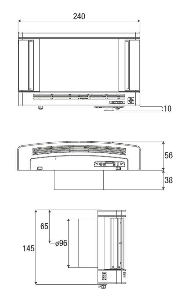 ZWRHV 40 KWHRVA 02 technische Zeichnung und Maße