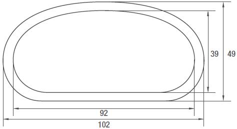 AIRTUBE-102-O-Ovale-Lüftungsrohre-aus-Polythylen-PE-technische-Zeichnung