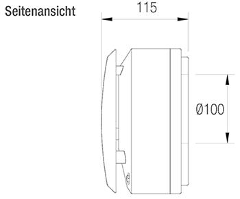 Aereco-Einzelraumlüfter-dezentrale-raumweise-Lüftung-technische-Zeichnung-Seitenansicht