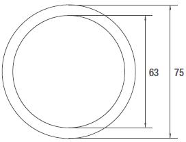 Airtube-75-R-runde-Lüftungsrohre-aus-Polythylen-PE-technische-Zeichnung