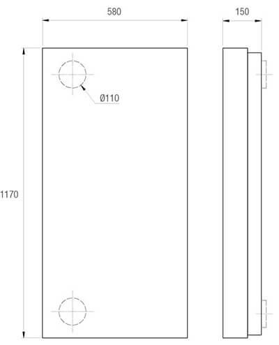 Technische Zeichnung Aereco LAD cosy V