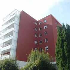 Abluftsystem im MFH mit 147 Wohnungen in Buchen Außenansicht