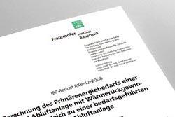 Deckblatt Frauenhofer Institut für Bauphysik