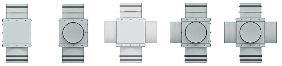 Abbildungen aller Aereco RSG RM Modellvarianten in der Übersicht (Frontansichten)
